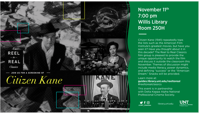 Citizen Kane event flyer reel to real classics