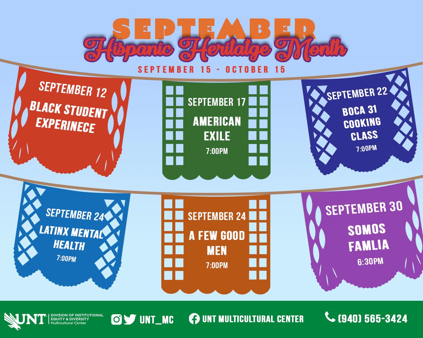 Sept MC Hispanic Heritage Month events pic