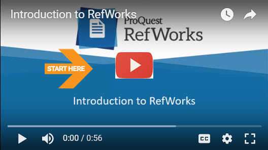 RefWorks Intro Video image