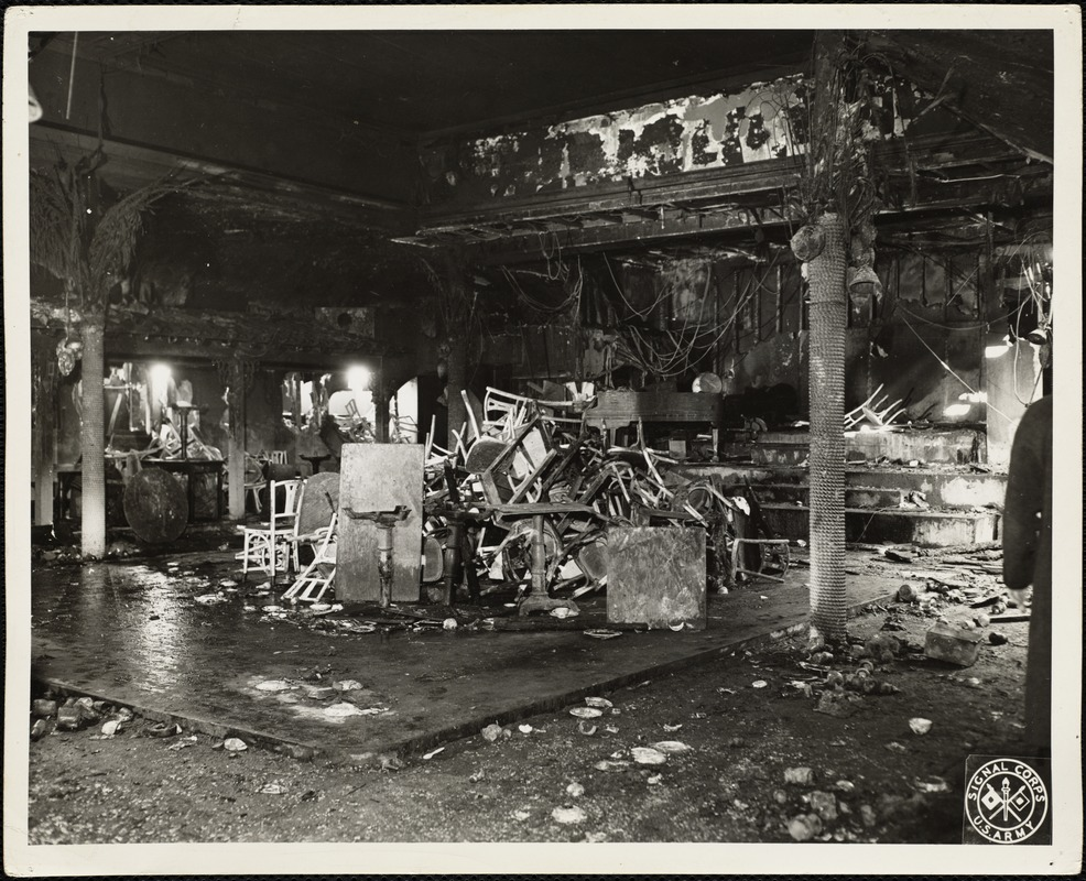 Cocoanut Grove fire, Boston, Nov. 28, 1942