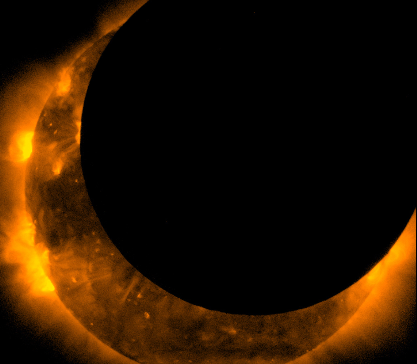 Hinode Spacecraft Views Solar Eclipse 20 May 2012