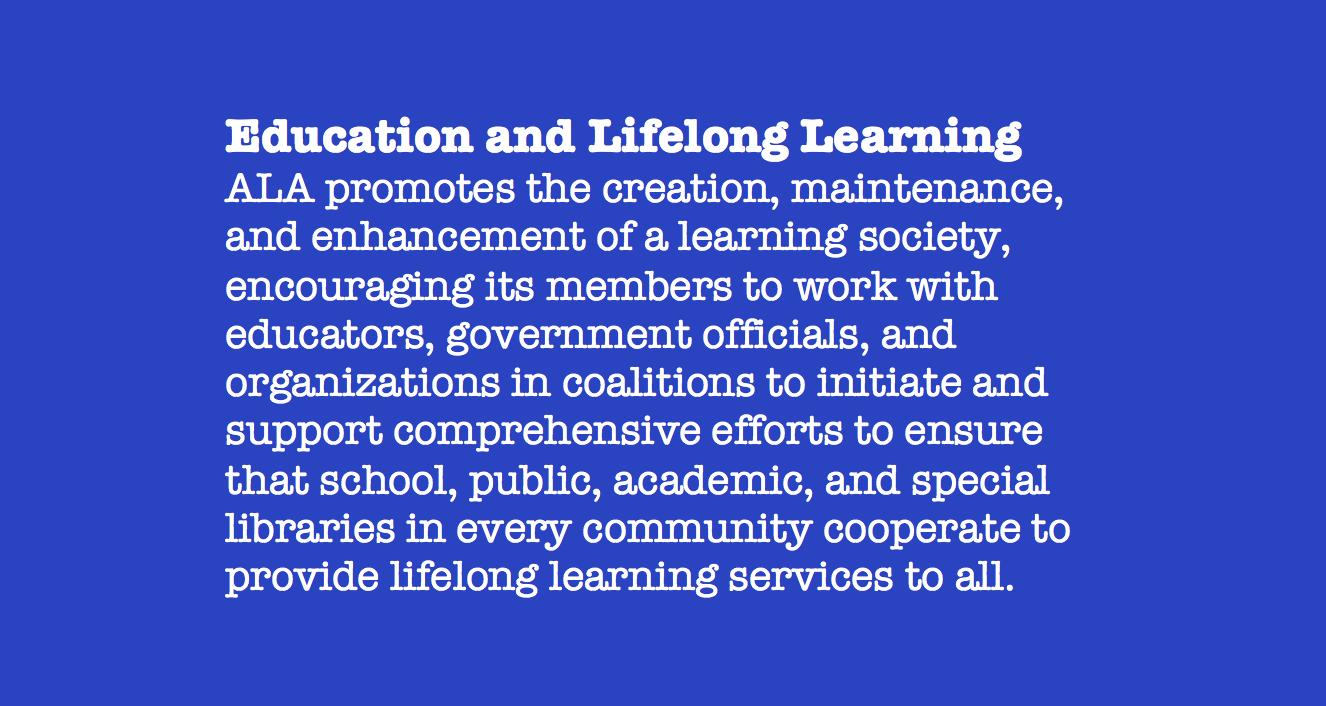 Education & Lifelong Learning