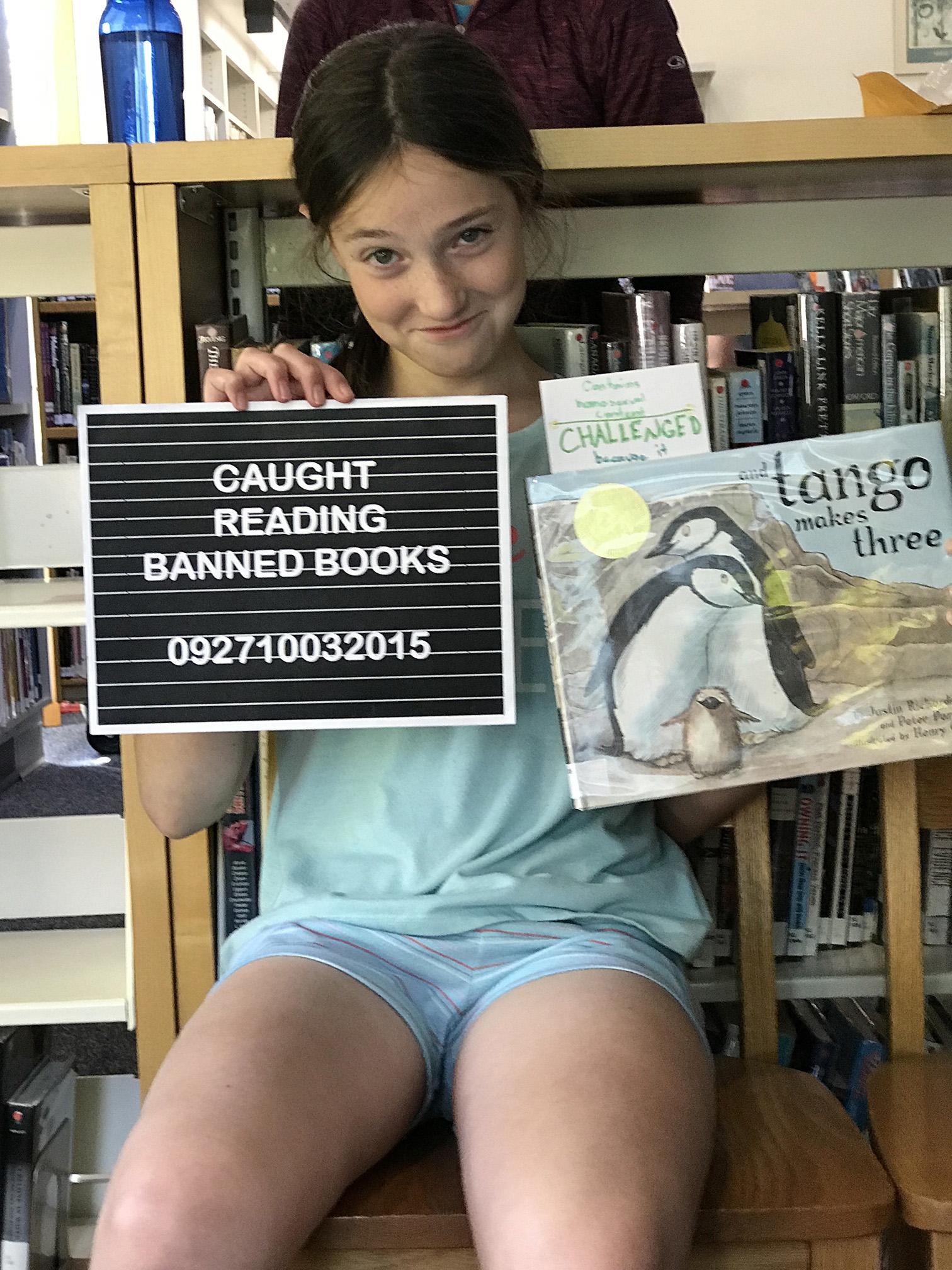 Sofia reading And Tango Makes Three