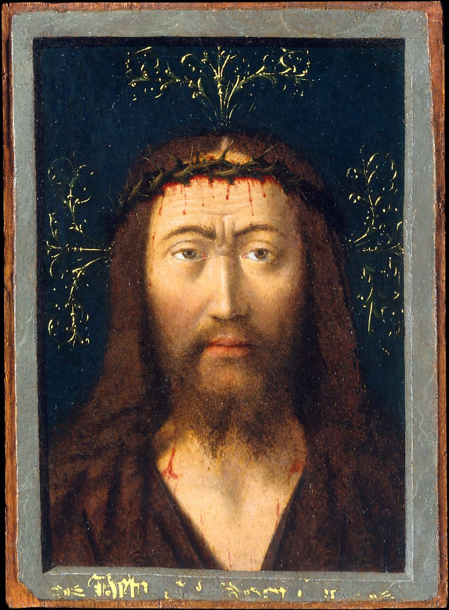 The painting Head of Christ by Petrus Christus
