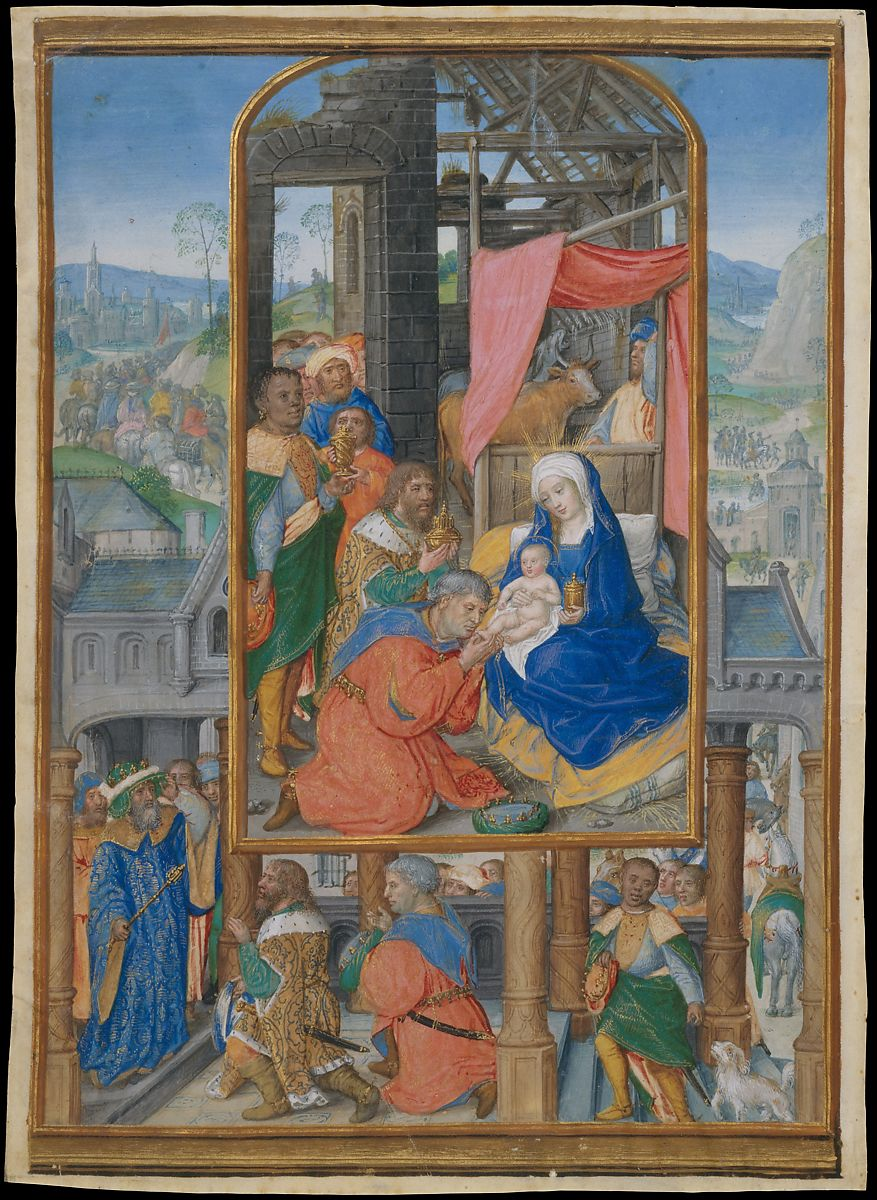 Manuscript Illumination with Adoration of the Magi ca. 1515–25. by Master of James IV of Scotland (probably Gerard Horenbout)