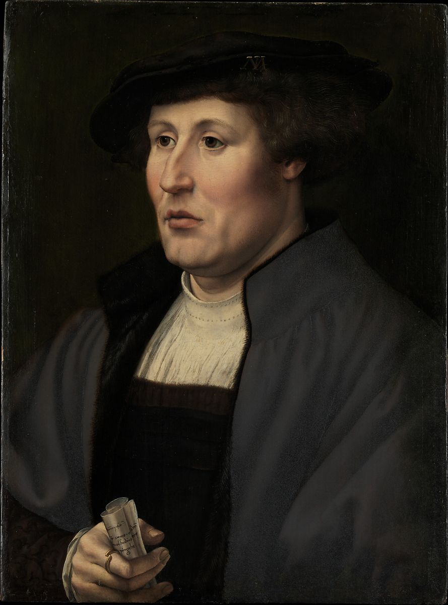 the painting Portrait of a Man ca. 1520–25 Jan Gossart (called Mabuse)