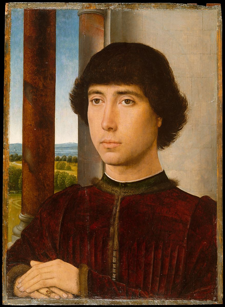 The painting Portrait of a Young Man by Hans Memling