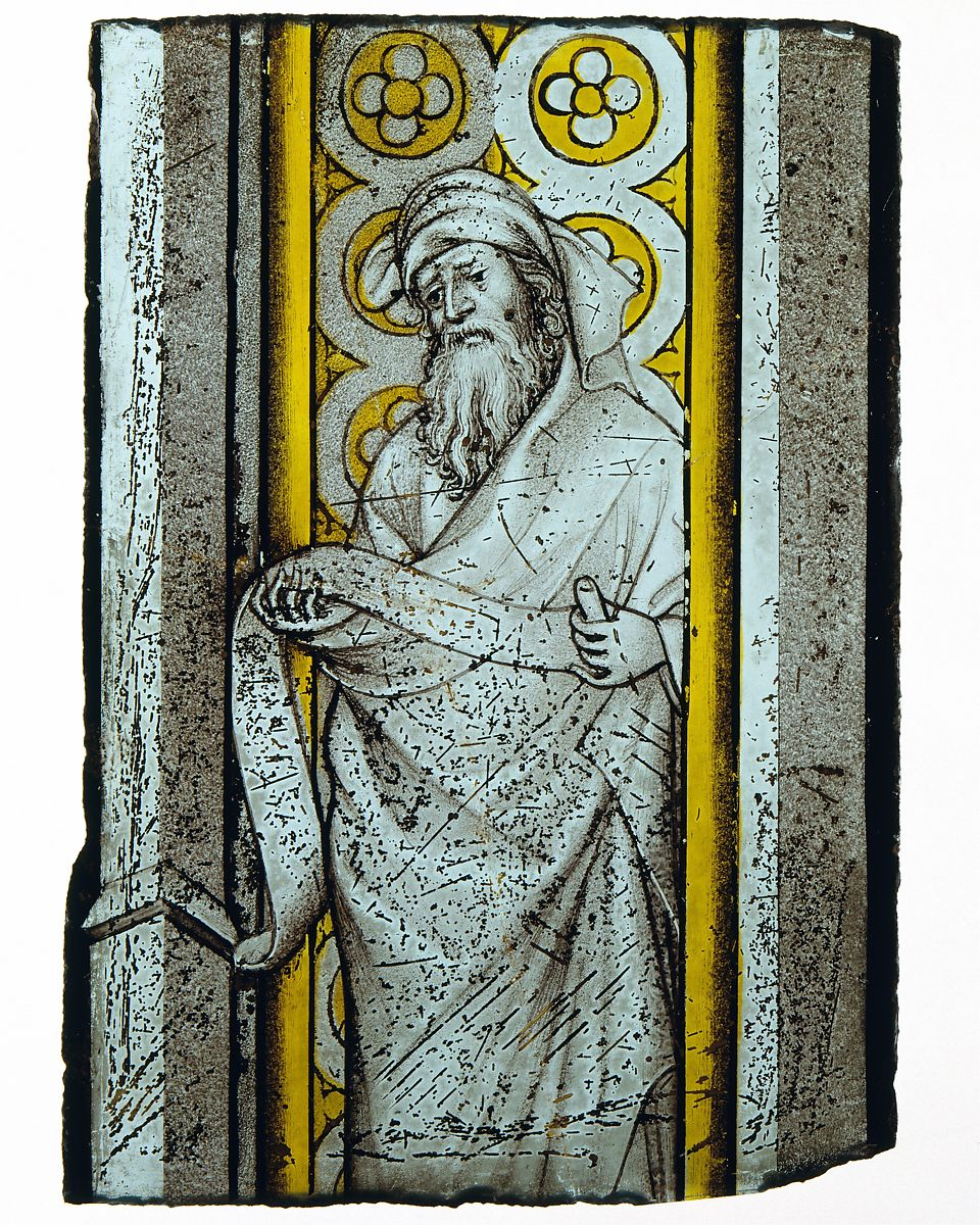 Stained glass panel Prophet from a Throne of Solomon