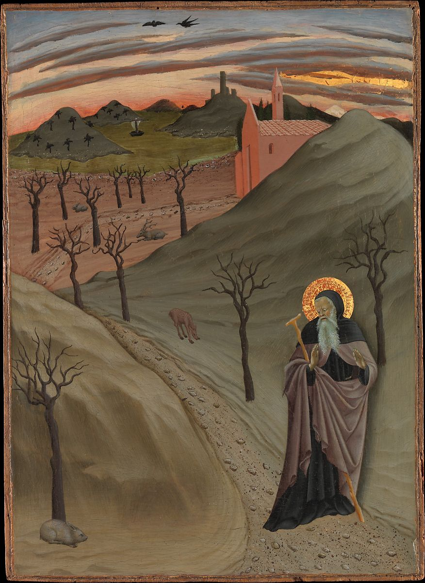 Saint Anthony the Abbot in the Wilderness ca. 1435 Osservanza Master Italian