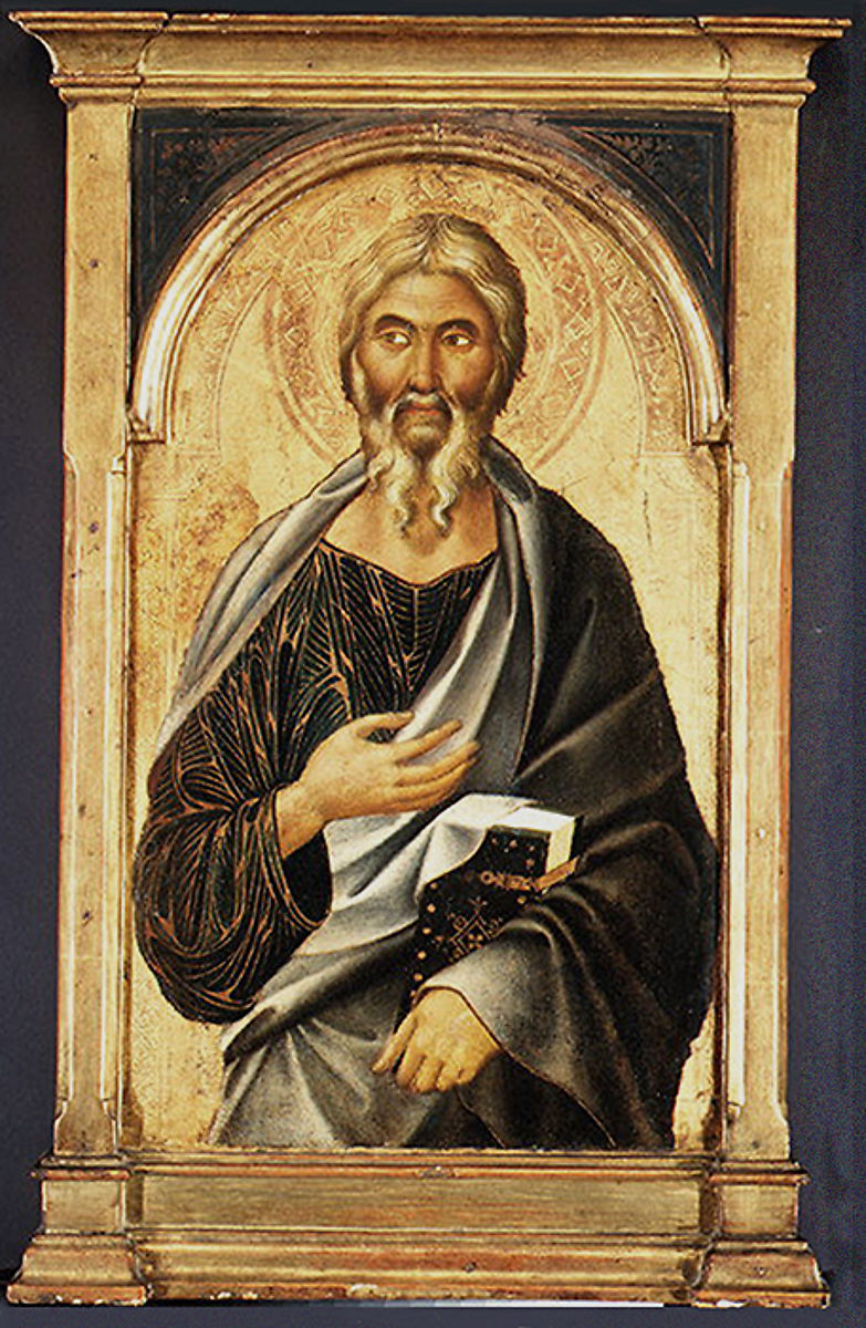 painting Saint John the Evangelist ca. 1320. by Segna di Buonaventura