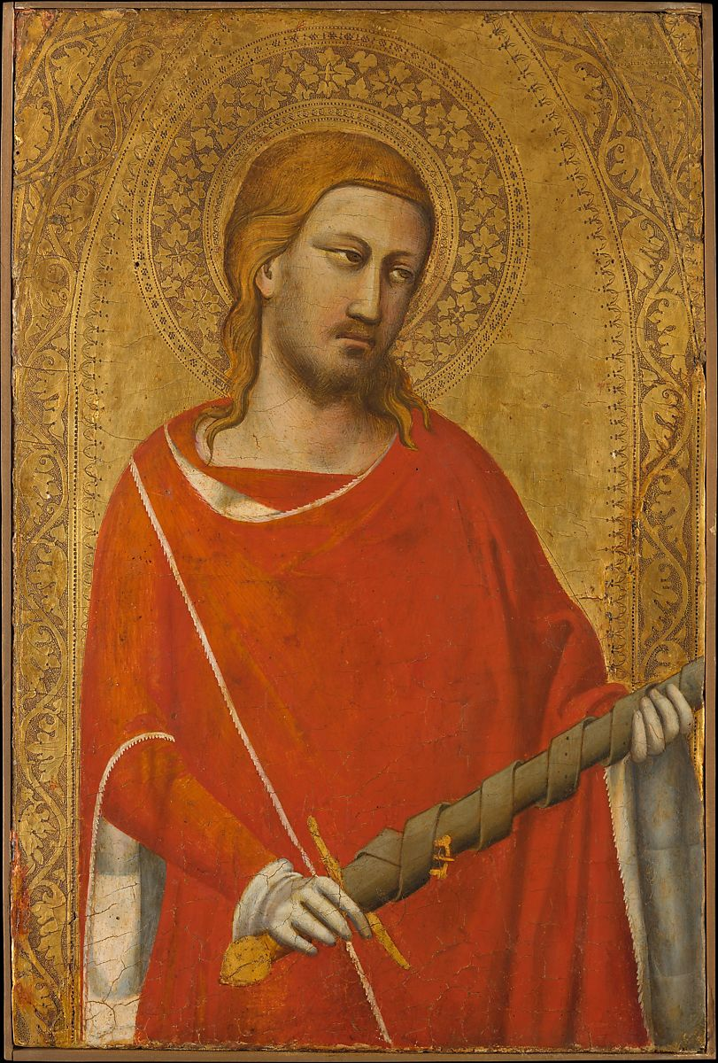 painting Saint Julian 1340s by Taddeo Gaddi
