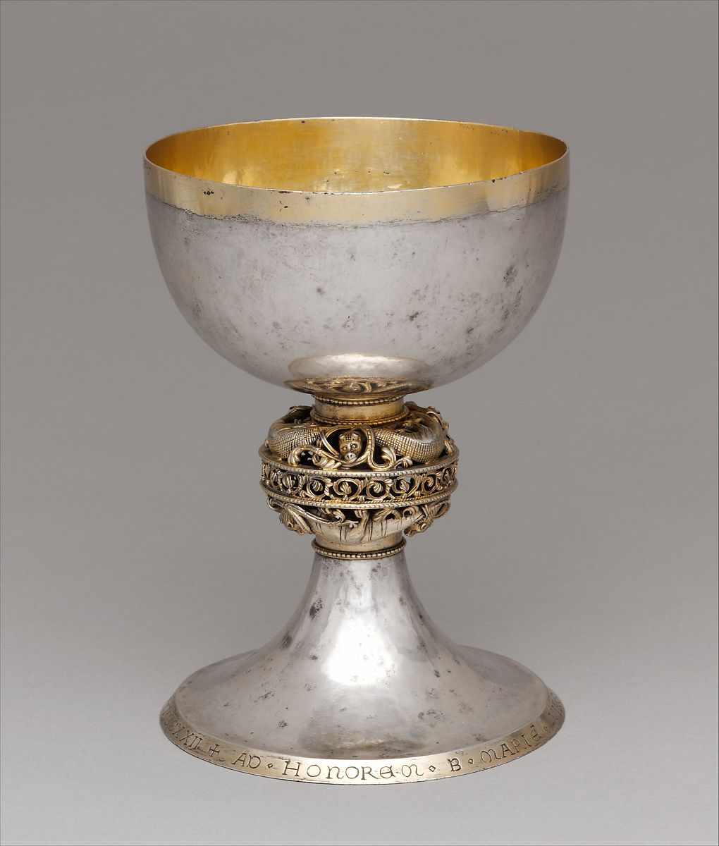 ornate chalice by Brother Bertinus in 1222