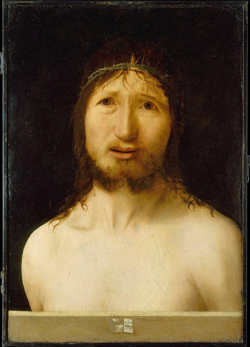 the painting Christ Crowned with Thorns Antonello da Messina (Antonello di Giovanni d'Antonio) Italian