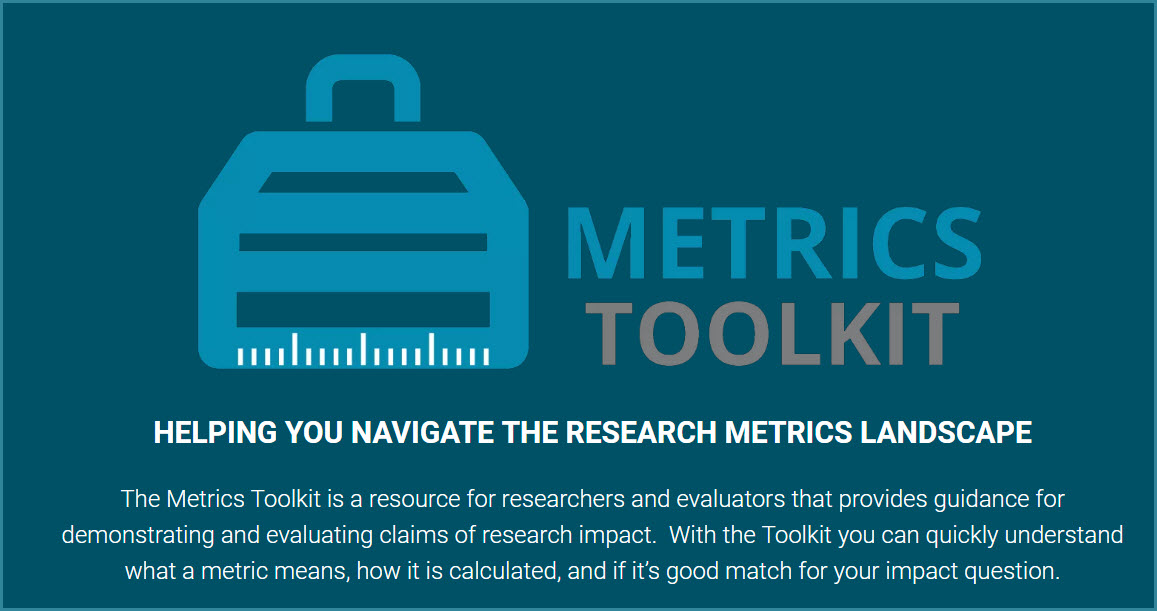 image of the metrics toolkit logo from the website