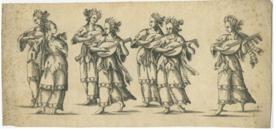 print of lute players