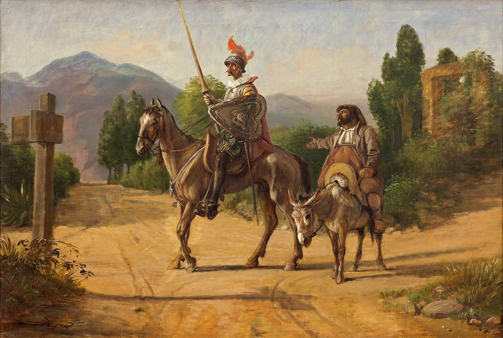 Wilhelm Marstrand, Don Quixote og Sancho Panza, 1847, Wikimedia Commons