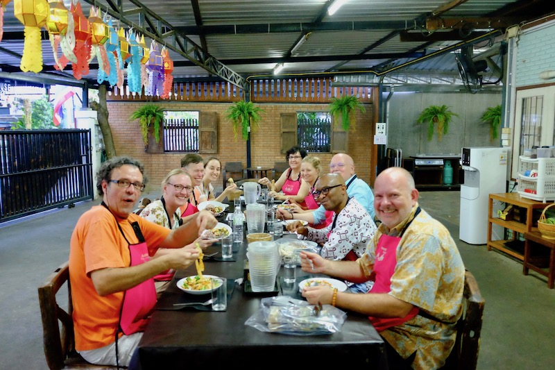 Ohio University faculty & staff enjoying food, culture and language in Chiang Mai, Thailand, Photo by the author