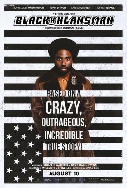 BlacKKKlansman theatrical release poster