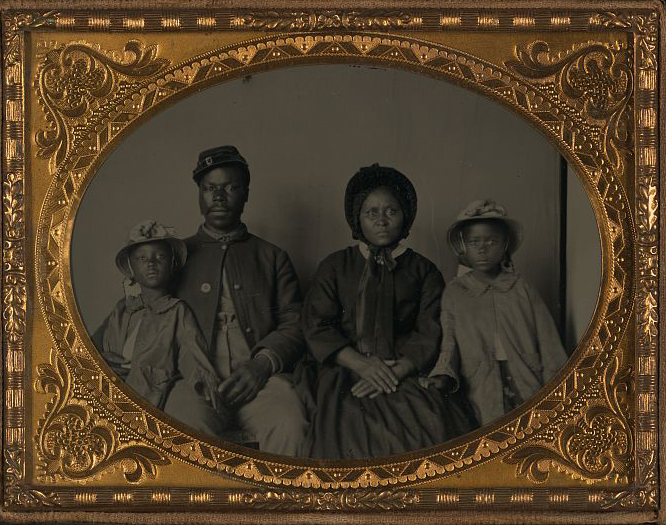 Post Civil War African American family