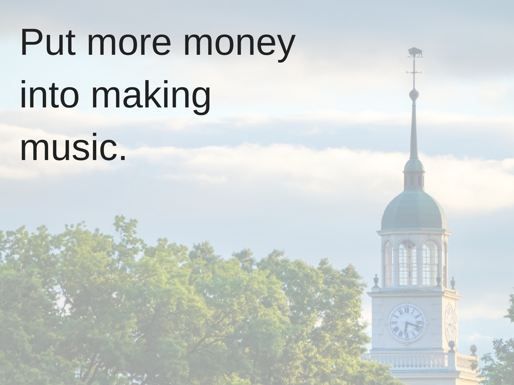 Put more money into making music.