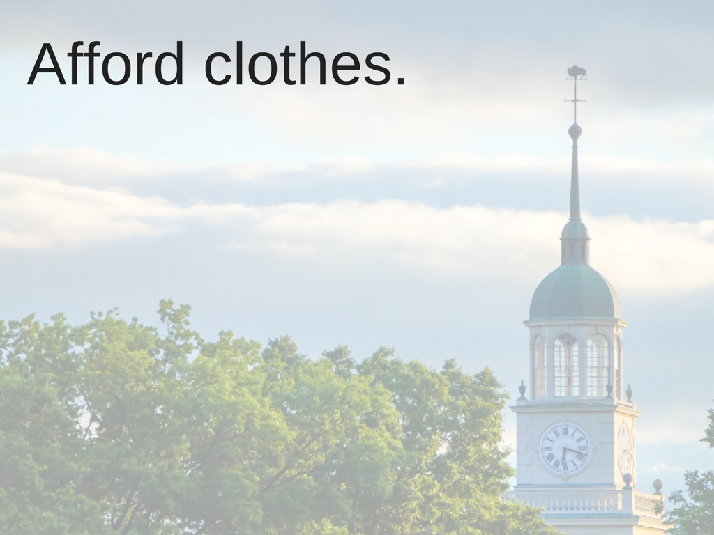 Afford clothes