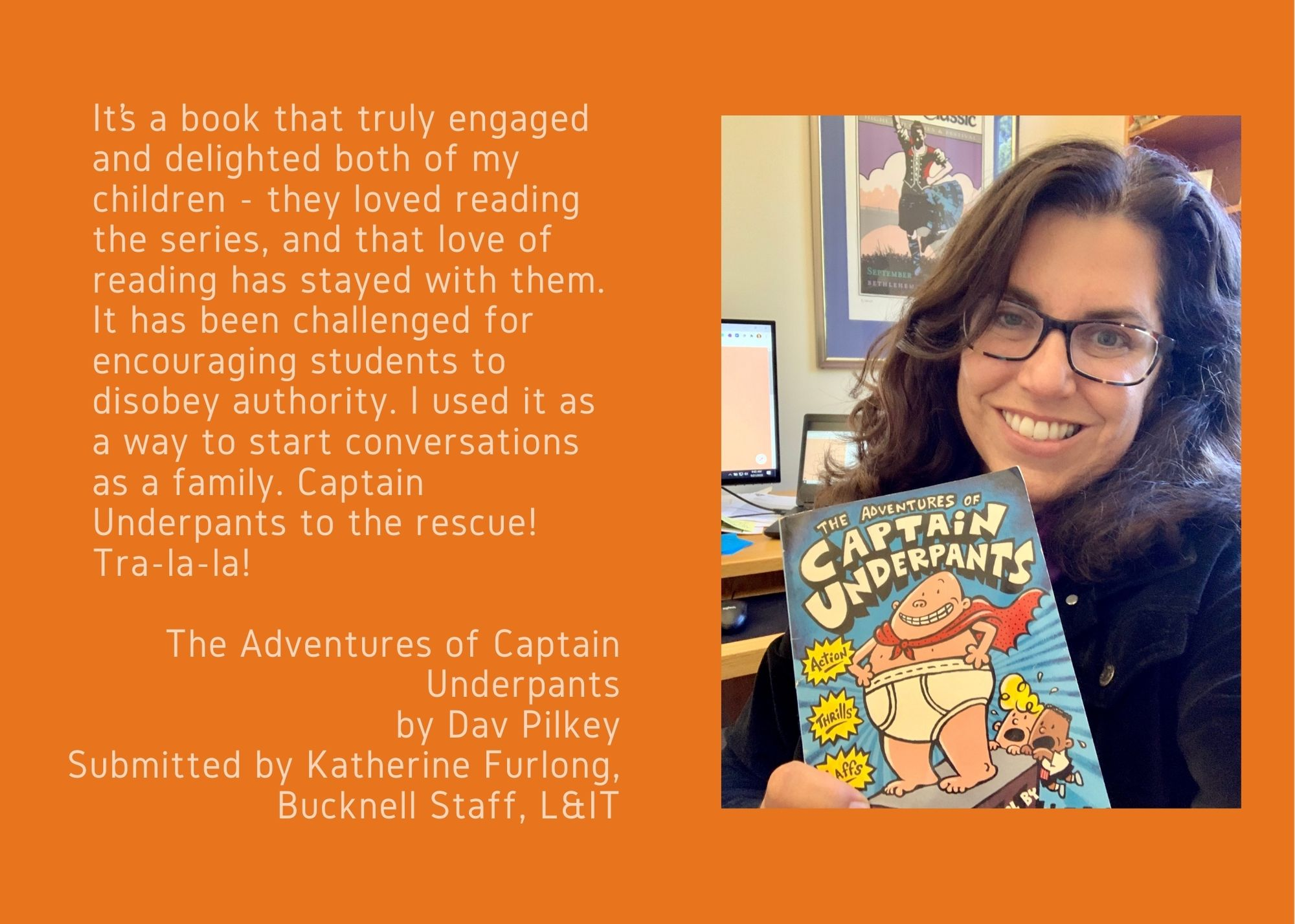 Katherine Furlong and The Adventures of Captain Underpants