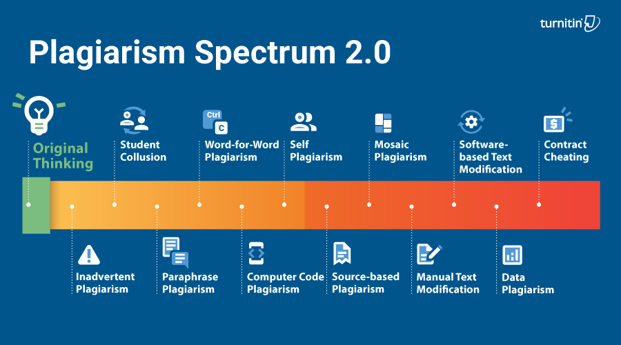 Infografic showing 12 kinds of plagiarism