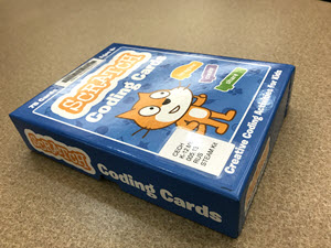The scratch coding cards box