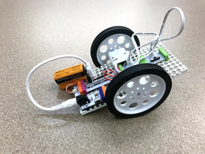 Steam Student Set; A sample of a project built using the steam student set guide: a two-wheeled moving vehicle