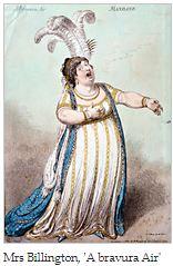 18th-century image of opera singer Mrs. Billnigton