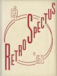 1961 Retrospectus Yearbook Cover