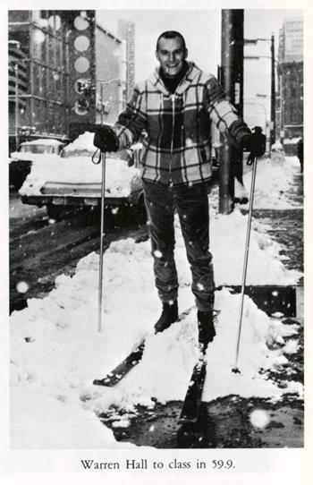 Skier - Warren Hall to class in 59.9