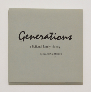 Front cover of Generations