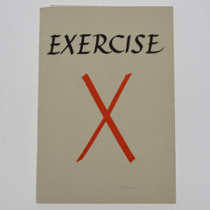 cover image of exercise x by ian hamilton finlay and others