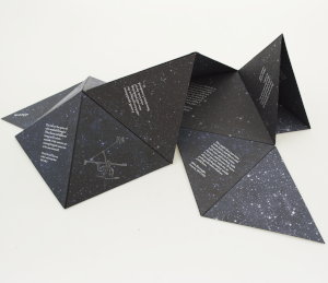 Star Poems partially unfolded