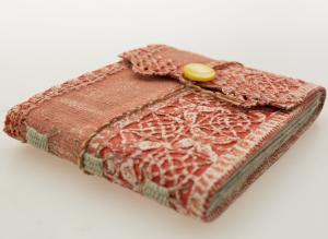Small lace book closed