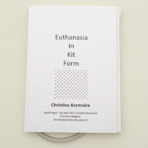 cover image of euthanasia in kit form by christine kermaire