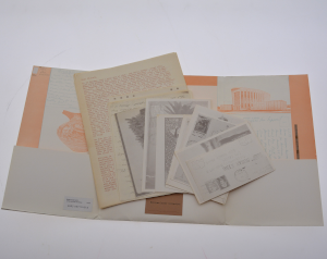 Letter Portfolio opened with several papers inside