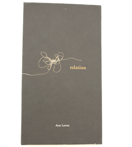 The front cover of Relation