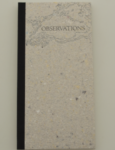 The cover of Observations