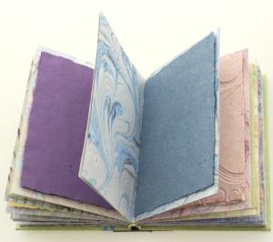 Rainbow Book fanned open