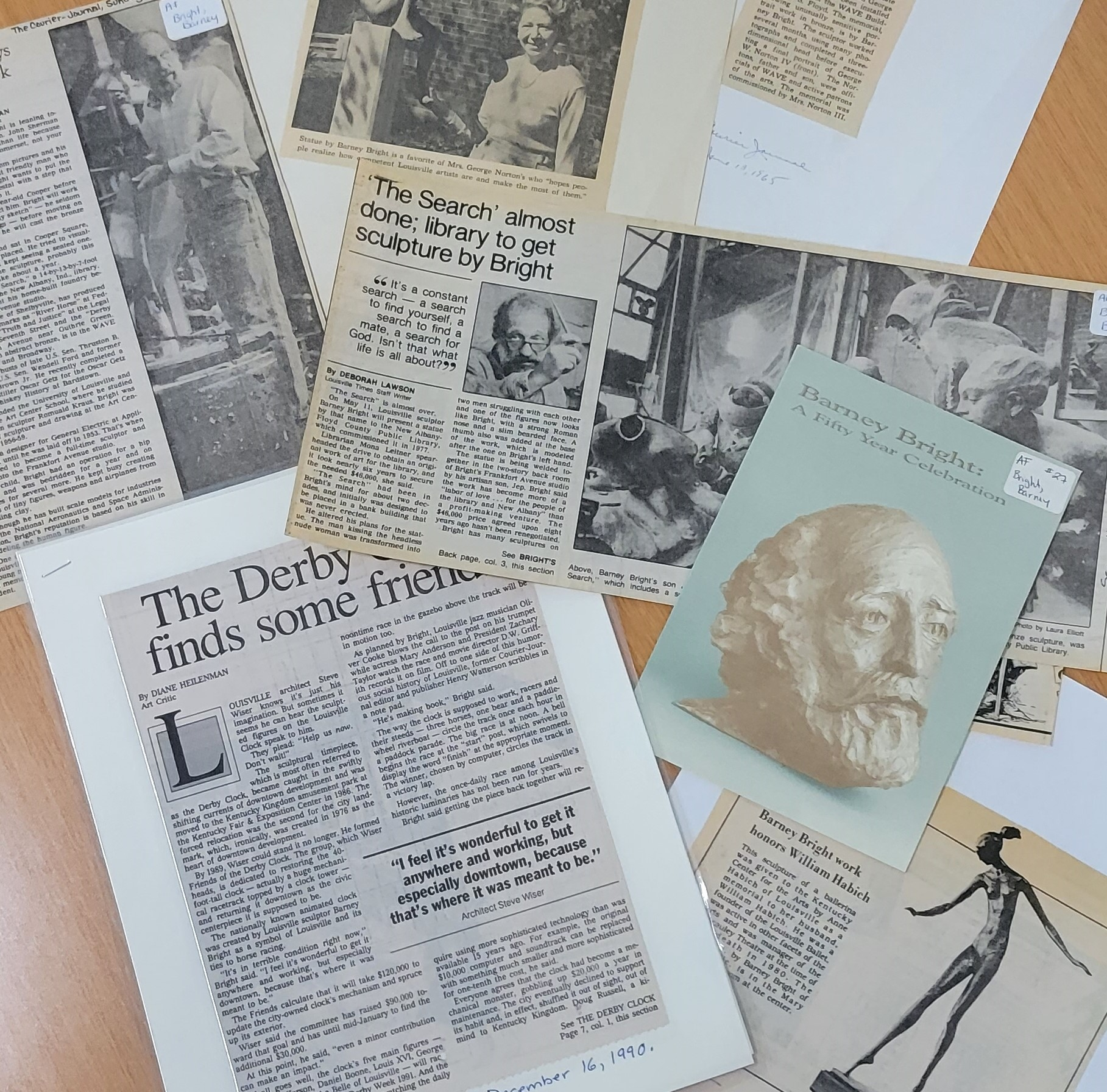 image of contents of an artist file
