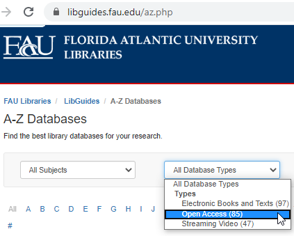 Open Access Publications in FAU Libraries