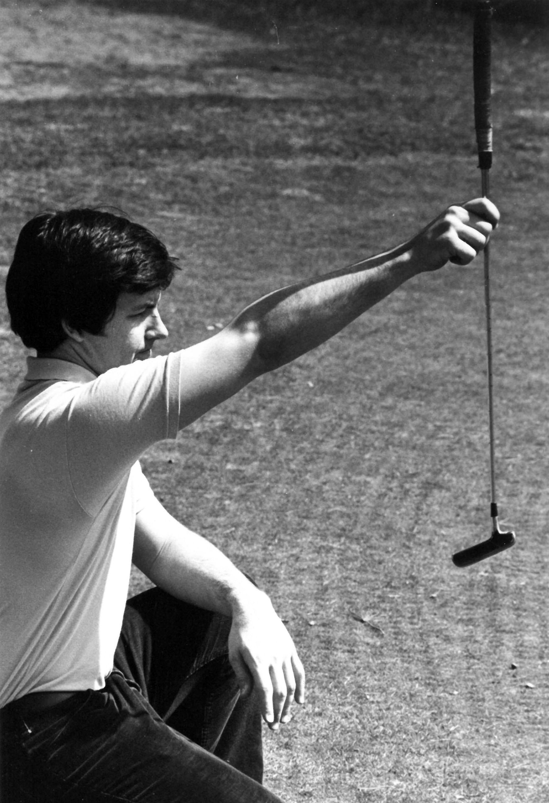 Suffolk University golf player Andy Campbell, 1978