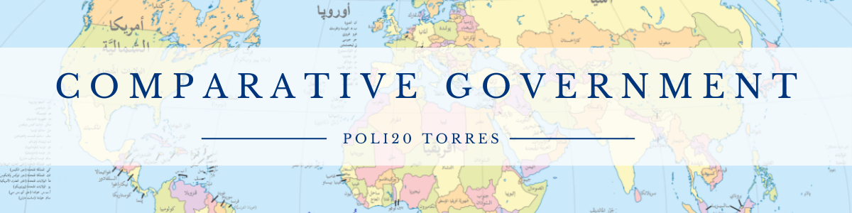 Comparative Government POLI20 Torres World Map Image