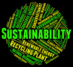 image of the word sustainability