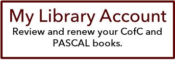My Library Account - click to view a list of and renew your current College and PASCAL books.