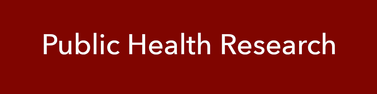 banner for public health research guide