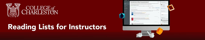 Reading Lists for Instructors header image
