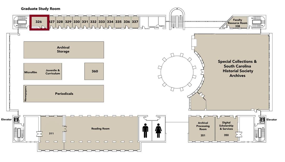 Map of third floor